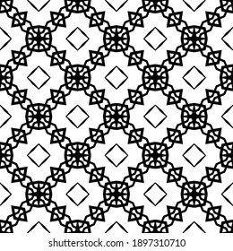 Black and white pattern. Abstract seamless geometric pattern.