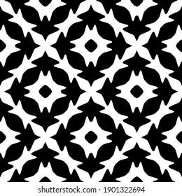 Black and white pattern. Abstract seamless geometric pattern.