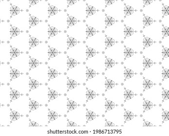 black and white pattern seamless  background minimal style for fabric shirt and floor decoration