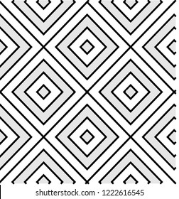 Black and White Pattern, Tile, Seamless