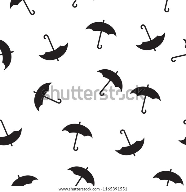 photograph relating to Umbrella Pattern Printable Free titled Black White Routine Black Umbrella Behavior Inventory Vector