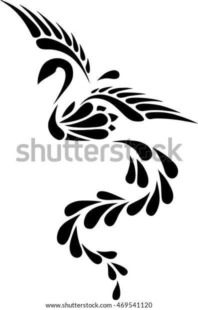 Image Vectorielle De Stock De Black White Phoenix Tribal