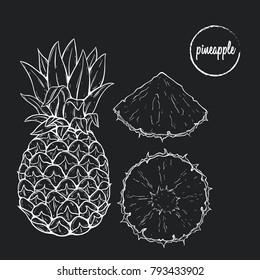 Pineapple Chalkboard Stock Vectors Images Vector Art