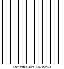 Black and White Pinstripe Vertical Seamless Striped Pattern Digital Paper