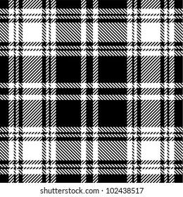 Black and white plaid pattern