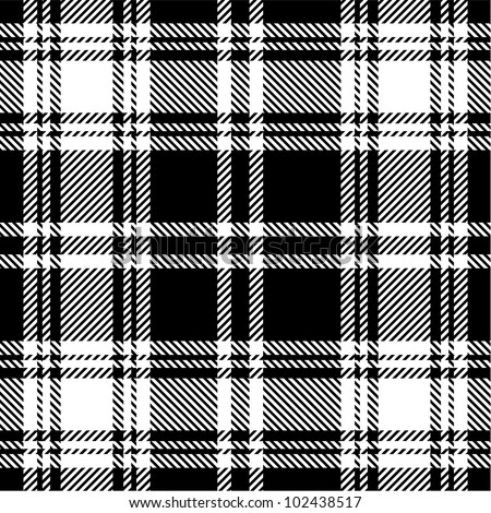 Black White Plaid Pattern Stock Vector Royalty Free 102438517