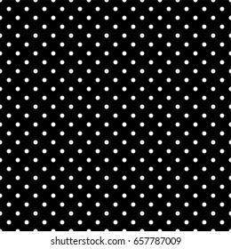 Black and white polka dot seamless background pattern