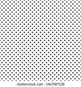 Black & White Polkadot Pattern Vector Art for Background or Wallpaper