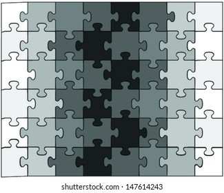 Black and white puzzle-vector illustration for design