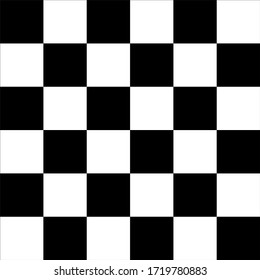 Black and white racing against a checkered pattern background
