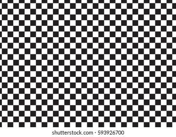 Black White Racing Checkered Pattern Baground Banner