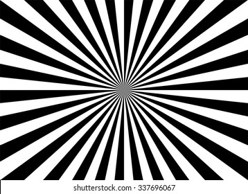 Black and white rays background vector illustration