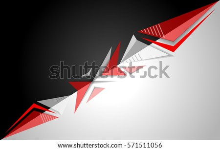 Black White Red Background Vector Stock Vector Royalty Free