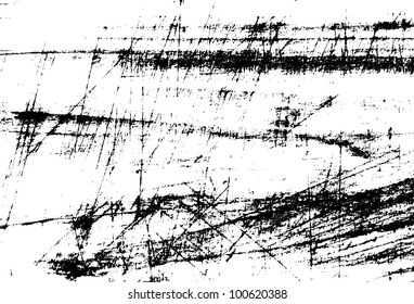 Black and white scratches abstract background