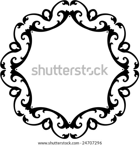 Black White Scroll Frame Background Stock Vector (Royalty Free ...