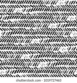 Black and white seamless abstract pattern. Grunge texture. Prints for textiles. Vector illustration.