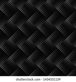 Black and white seamless geometrical circle pattern background - abstract monochrome vector illustration