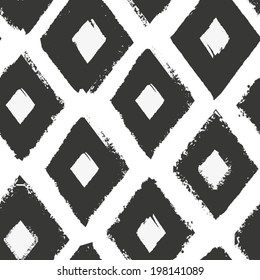 Black and white seamless pattern. Oriental monochrome ornament for your design.