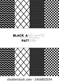 Black and white Seamless patterns.can be used for wallpaper, pattern fills, web page or background.