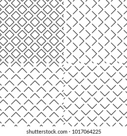 Black and white seamless wafer waffle texture pattern set. Vector illustration background.