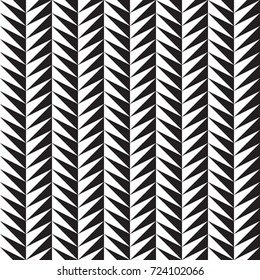 Black and white serrated ornament. Seamless vector pattern
