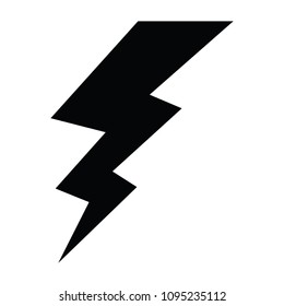 A Black And White Silhouette Of Lightning Bolt