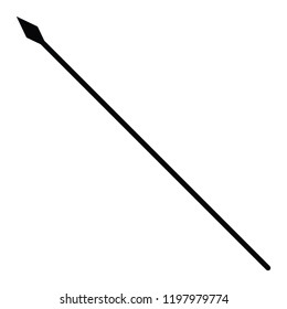 A black and white silhouette vector of a spear