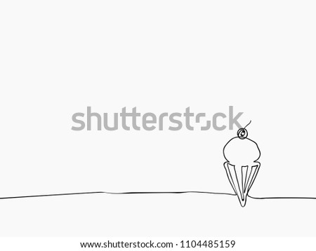 Black White Simple Childish Hand Drawn Stock Vector Royalty Free