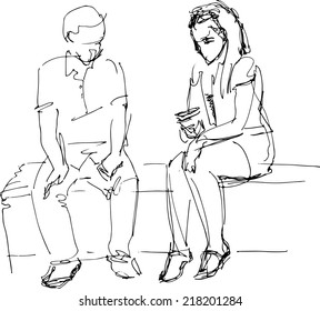 Sitting Sketch High Res Stock Images | Shutterstock