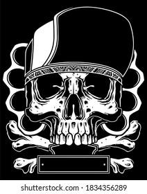 black and white skull vector