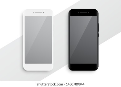 black and white smartphone mockup design