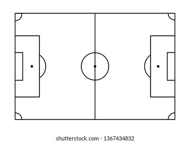 Black and white soccer field