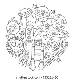 Cosmic Coloring Pages Images, Stock Photos & Vectors ...