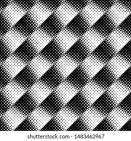 Black and white square pattern background - abstract monochrome vector graphic from squares