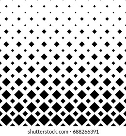 Black and white square pattern background - monochrome geometric vector graphic from diagonal squares