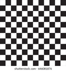 Black and white squared pattern seamless background. Vector.