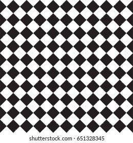 Black and white squares geometric pattern seamless background. Vector.