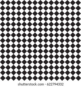Black and white squares pattern texture seamless background. Vector illustrator