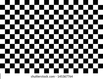 Black and White Squares. Vector.