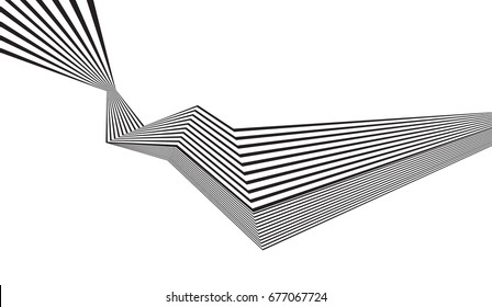 black and white stripe line pattern abstract graphic wave