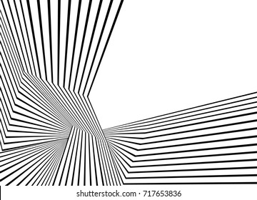 black and white stripe line pattern abstract graphic optical art