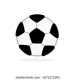 Black and white striped football Isolated on white background Football icon vector illustration