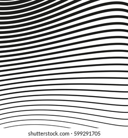 Black and white striped lines. Abstract vector background