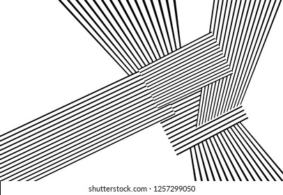 black and white stripes, lines abstract graphic, illusive movement design, optical art, op art