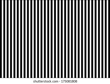 Black and White Stripes. Vector