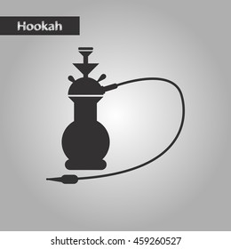 black and white style icon Eastern hookah