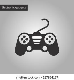 black and white style icon game joystick