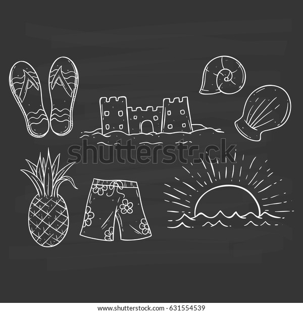 Black White Summer Hand Drawing Pineapple Royalty Free