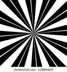 Black and white sunburst background