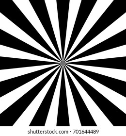 Black and white sunburst pattern. Vector illustration